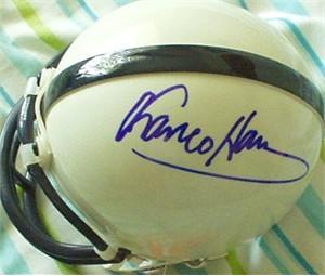 Franco Harris autographed Penn State mini helmet (flawed)