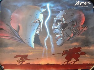 Frank Miller autographed Xerxes 2017 Comic-Con exclusive 19x24 poster