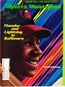 Frank Robinson autographed Baltimore Orioles 1969 Sports Illustrated