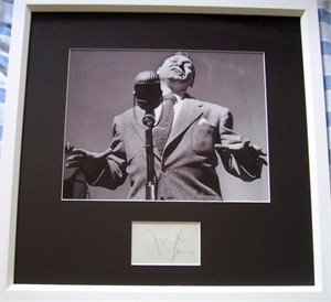 Frankie Laine autograph matted & framed with vintage 8x10 photo