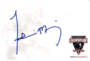 Frankie Muniz autographed 4x6 signature card