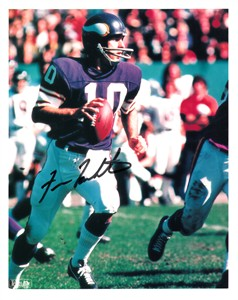 Fran Tarkenton autographed 8x10 Minnesota Vikings photo