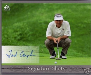 Fred Couples certified autograph 2005 SP Signature Golf 8x10 photo card