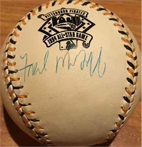 Fred McGriff autographed 1994 All-Star Game baseball