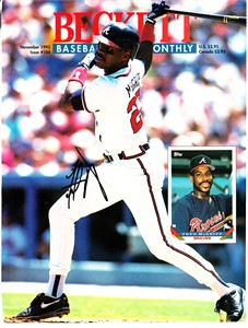 Fred McGriff autographed Atlanta Braves 1993 Beckett Baseball magazine cover