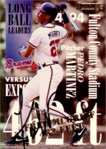 Fred McGriff autographed Atlanta Braves 1995 Donruss Long Ball Leaders card