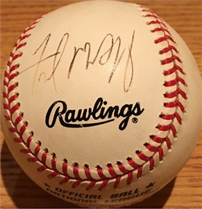 Fred McGriff autographed National League baseball
