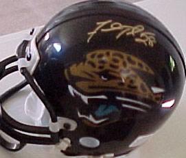 Fred Taylor autographed Jacksonville Jaguars mini helmet