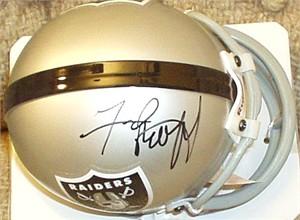 Fred Biletnikoff autographed Oakland Raiders mini helmet
