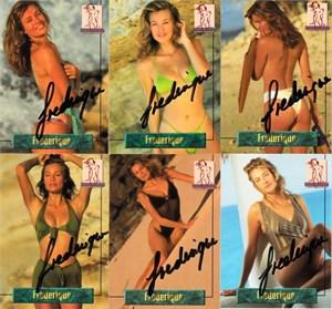 Frederique van der Wal (Victoria's Secret model) autographed 1994 Portfolio swimsuit 12 card set