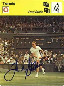 Fred Stolle autographed 1979 Sportscaster tennis card