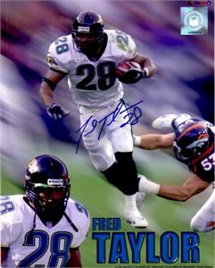 Fred Taylor autographed Jacksonville Jaguars 8x10 photo