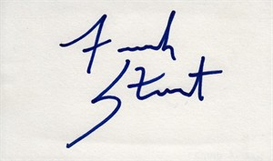 French Stewart autographed index card