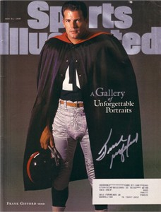 Frank Gifford autographed New York Giants 1997 Sports Illustrated