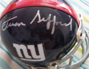 Frank Gifford autographed New York Giants authentic throwback mini helmet