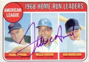Frank Howard autographed 1969 Topps AL HR Leaders card