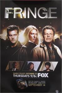 Fringe 2010 Comic-Con WB promo poster Joshua Jackson John Noble Anna Torv