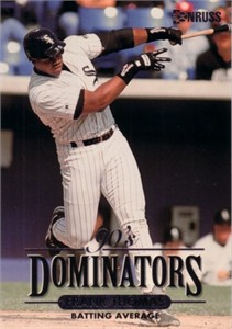 Frank Thomas 1994 Donruss Dominators jumbo card (#/10000)