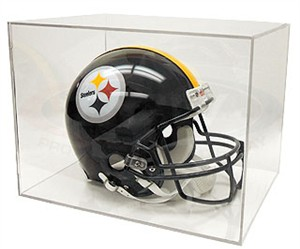 Full size football helmet display case holder