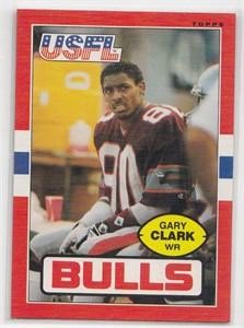 Gary Clark 1985 Topps USFL Rookie Card #49 NrMt-Mt