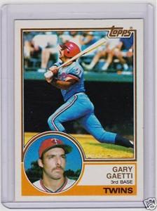 Gary Gaetti 1983 Topps Rookie Card #431