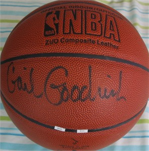 Gail Goodrich autographed NBA indoor/outdoor basketball