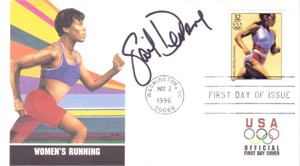 Gail Devers autographed 1996 Olympic USPS First Day Cover
