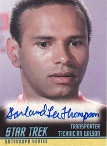 Garland Lee Thompson Star Trek certified autograph card