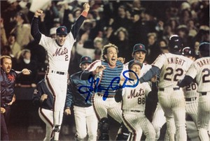 Gary Carter autographed New York Mets 1986 World Series celebration 6x9 photo