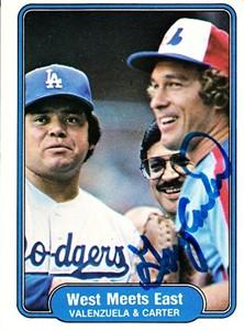 Gary Carter autographed Montreal Expos 1982 Fleer card