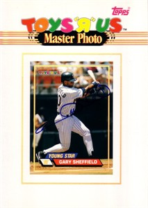Gary Sheffield autographed San Diego Padres 1993 Topps 5x7 Master Photo