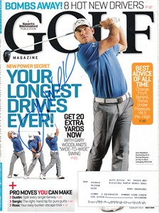 Gary Woodland autographed 2014 Golf Magazine cover