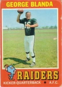 George Blanda 1971 Topps card VG