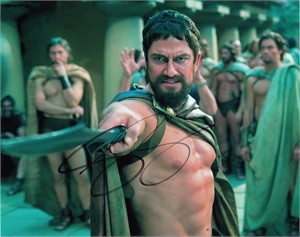 Gerard Butler autographed 300 8x10 photo