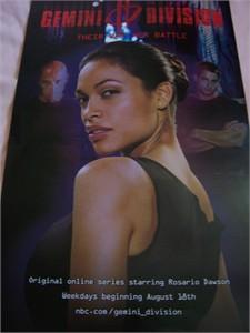 Gemini Division 11x17 mini promo poster (Rosario Dawson)