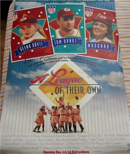 Geena Davis & Lori Petty autographed A League of Their Own full size 27x40 movie poster