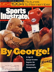George Foreman autographed 1994 Sports Illustrated