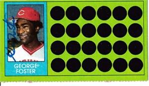 George Foster autographed Cincinnati Reds 1982 Topps card