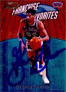 George Gervin autographed San Antonio Spurs 2000-01 Bowman's Best card