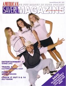 George Lopez autographed 2007 Bob Hope Chrysler Classic magazine