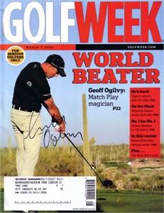 Geoff Ogilvy autographed 2009 Golfweek magazine
