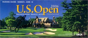 Geoff Ogilvy autographed 2006 U.S. Open Sunday pairings guide
