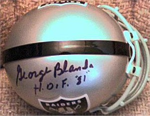 George Blanda autographed Oakland Raiders mini helmet
