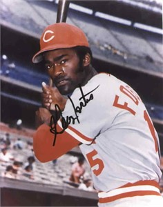 George Foster autographed Cincinnati Reds 8x10 photo