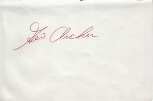 George Archer autographed album page