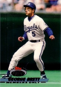 George Brett Kansas City Royals 1993 Stadium Club Members Only card