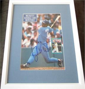 George Brett autographed Kansas City Royals Beckett Baseball magazine cover matted & framed