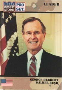 President George H.W. Bush 1991 Pro Set Desert Storm card