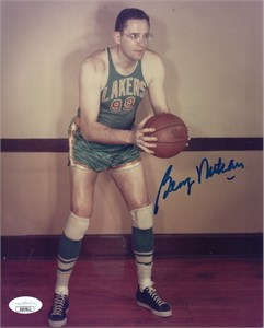 George Mikan autographed Minneapolis Lakers 8x10 photo