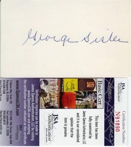 George Sisler autographed 3x5 index card (JSA)